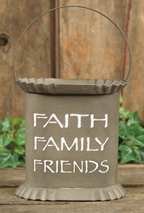 Oval Ash Color Faith/Family/Friends Electric Tin Wax Tart Warmer