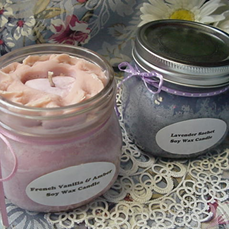 Pint Jam Jar Pie Candles