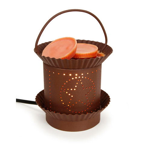 Rust Colored Star Tin Punch Electric Wax Warmer
