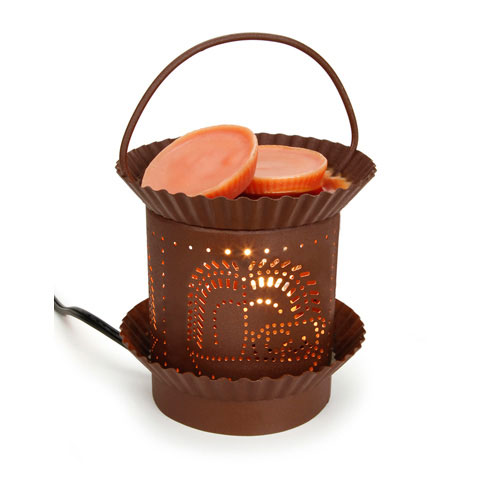 Rust Colored Weeping Willow Tin Punch Electric Wax Warmer