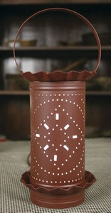 Country Red Tin Punch Diamonds Electric Wax Tart Warmer