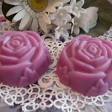 Triple Butter Rose Soaps